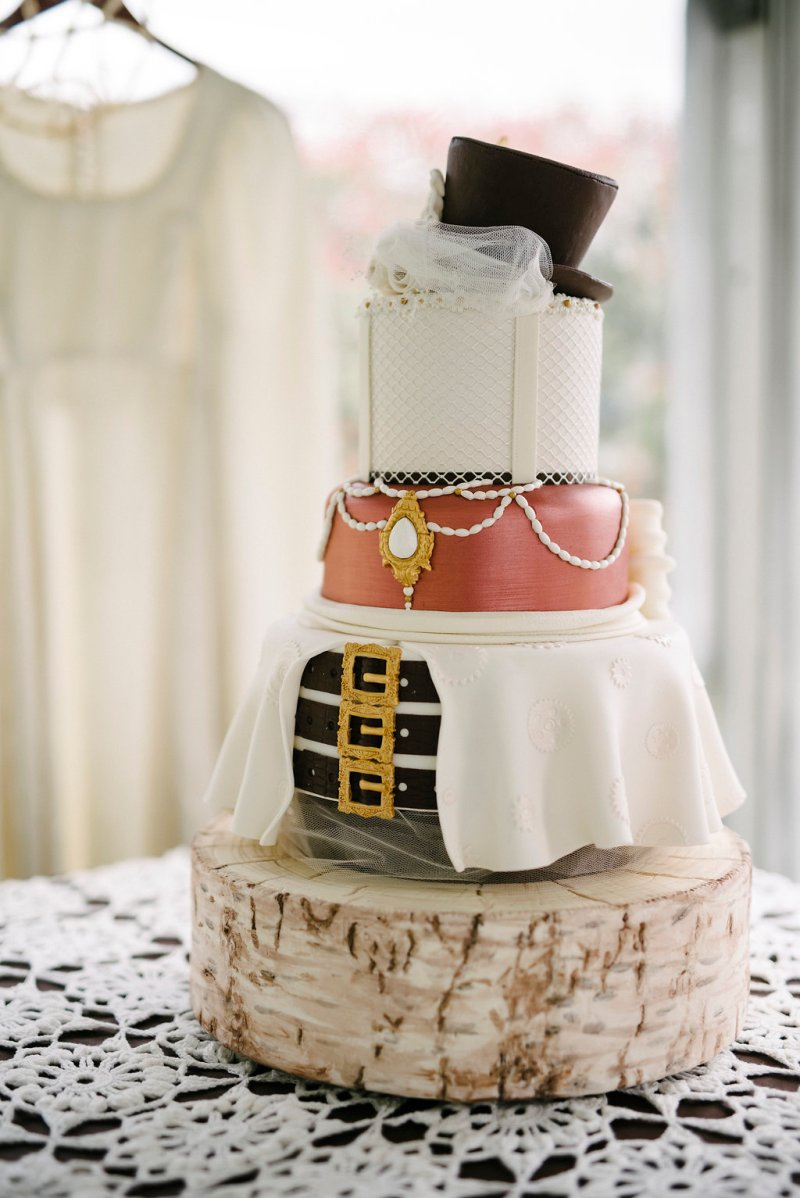 This steampunk cake is all dressed up with somewhere to go