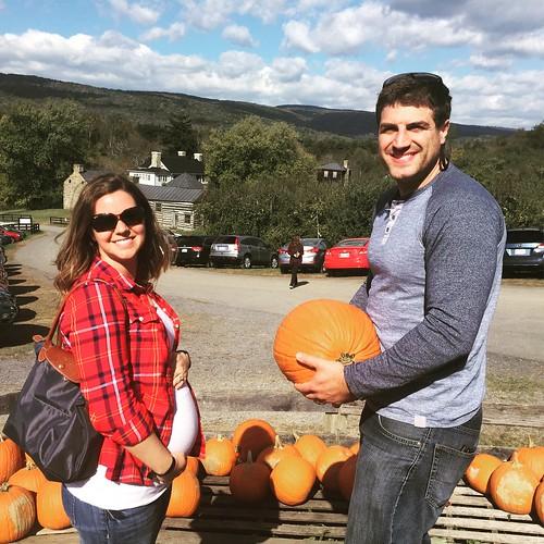 Baby bump and pumpkin bump