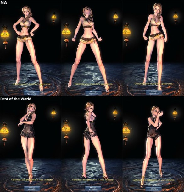Blade & Soul NA vs KR Censorship