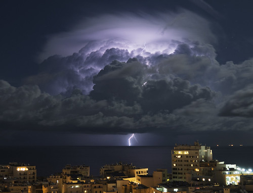Distant Lightning seen from Malta