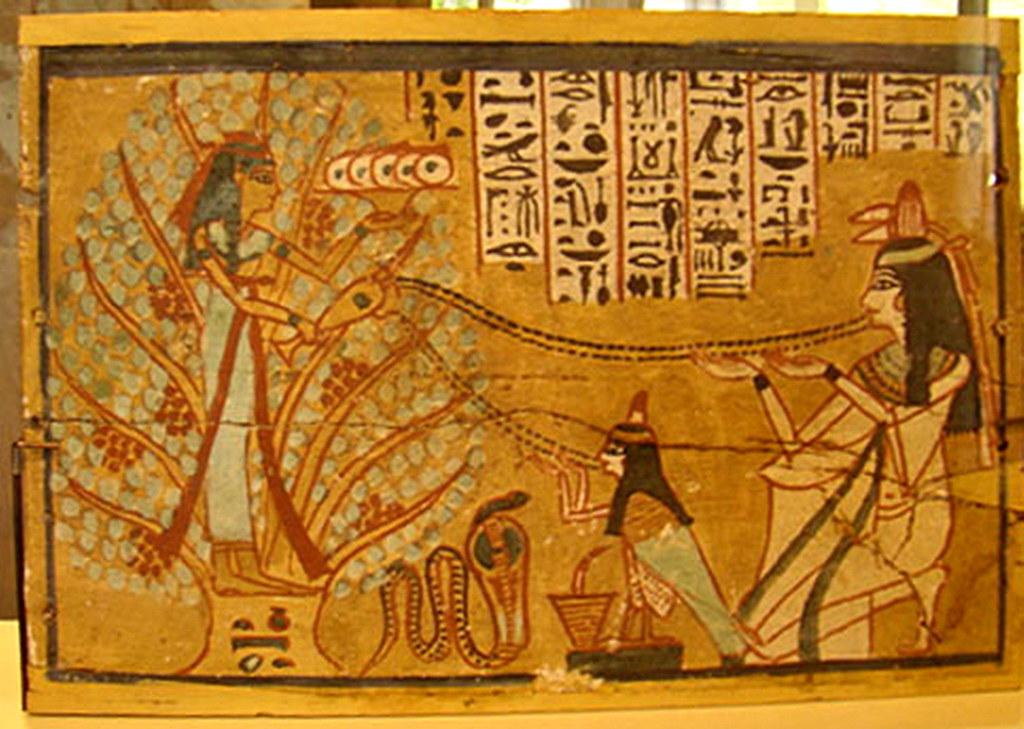 Pintura egipcia Museo Nuevo Berlin Alemania 01