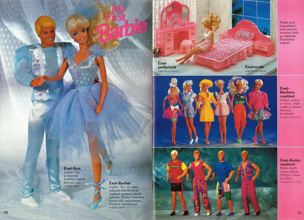 Barbie Journal 1992 Finnish My First Barbie Amp My First