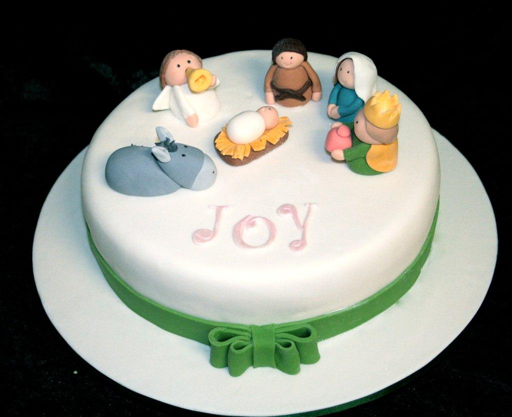 Christmas Cake With Nativity Scene