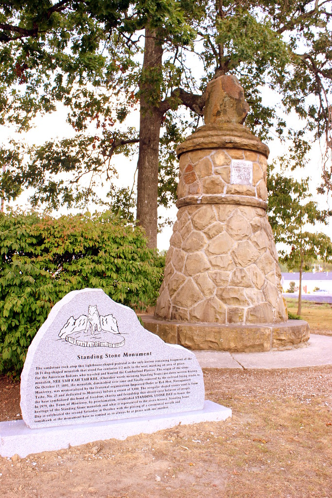 The Standing Stone Monument Monterey Tn The Sandstone