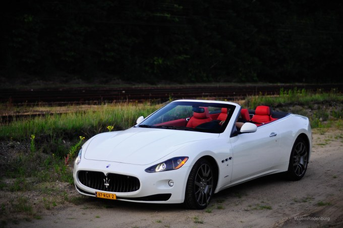 White Maserati Red Interior