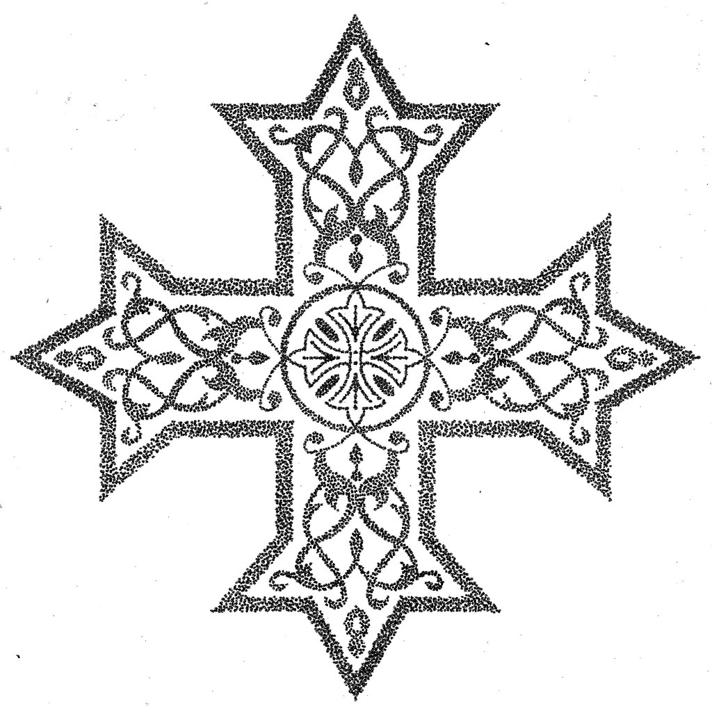 Pointilism Coptic Cross