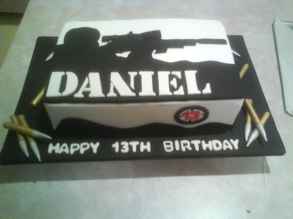 Sniper Birthday Cake Cakes By Ana Flickr