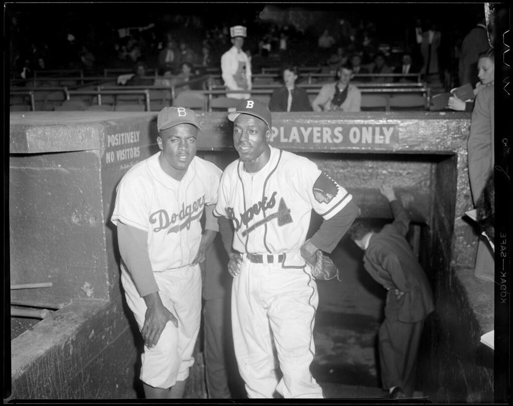 Sam Jethroe Amp Jackie Robinson At Braves Field