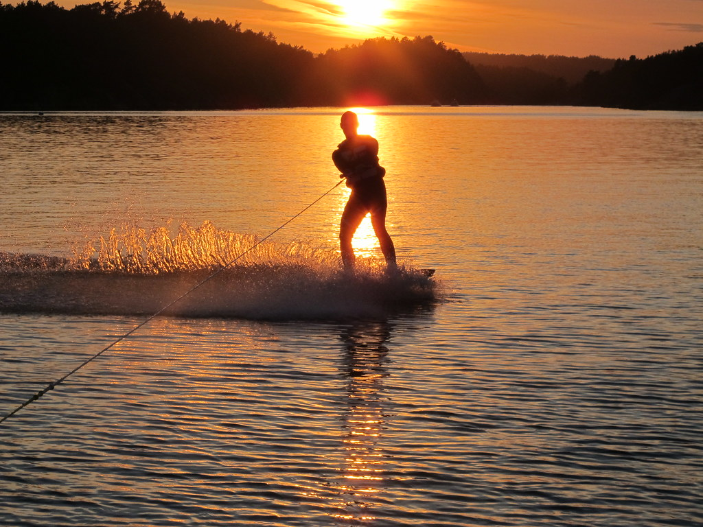 Sunset Wakeboarding Mats Catching The Last Rays Of