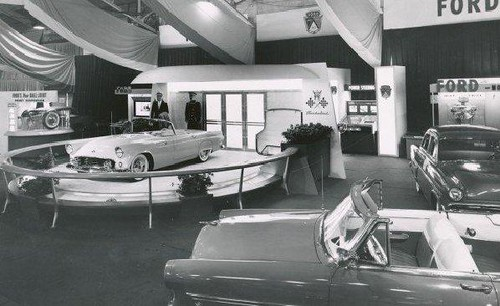 1954 Detroit Auto Show With The NEW 1955 Thunderbird Flickr