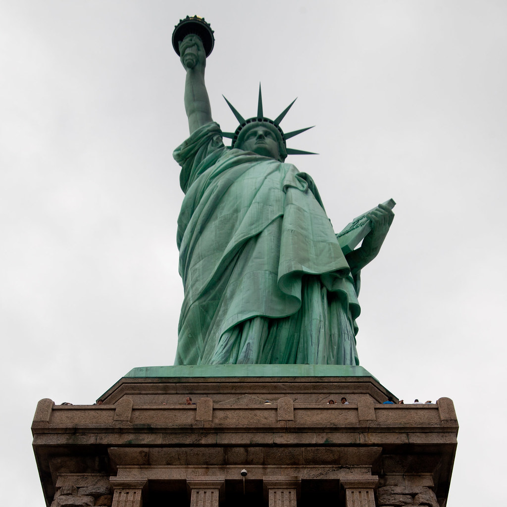 Statue Of Liberty From The Middle Of The Pedestal