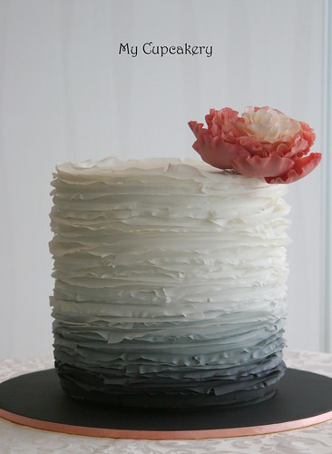 Spring Wedding Ruffle Cake Eight Inch Round Double