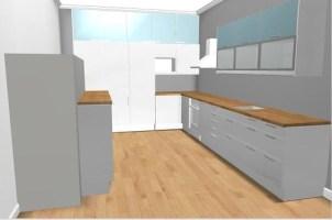 Ikea kitchen planner   Oak floor & worktops. Abstrakt ...