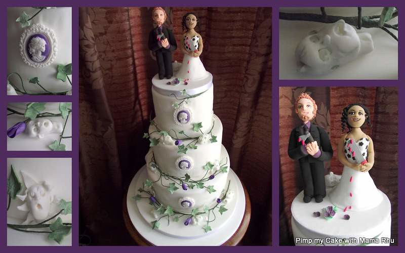 Zombie Wedding Cake The Bride And Groom Are Big Zombie Fan Flickr