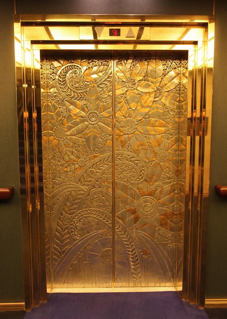 Elevator Doors MS Zuiderdam Indonesian Themes On