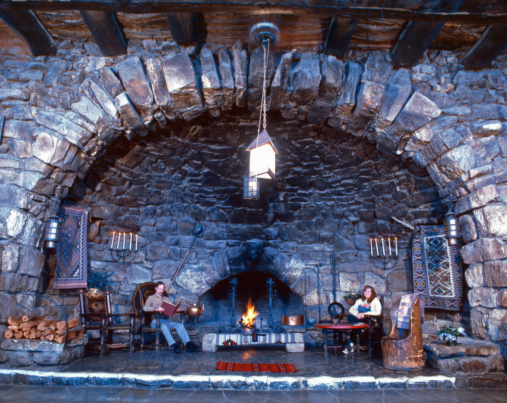 Grand Canyon National Park Hermits Rest Fireplace Interio