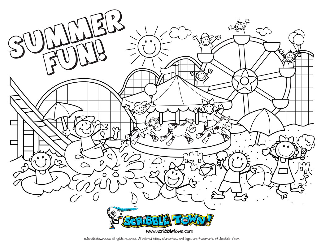 A Summer Fun Coloring Page