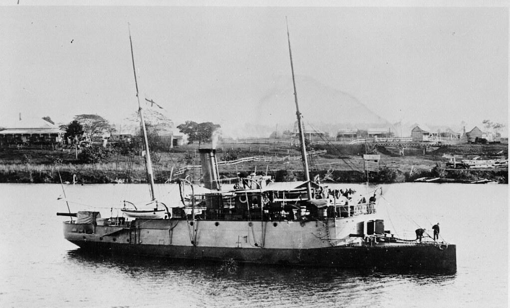 Circa 1890 Mighty Queensland Colonial Gunboat PALUMA Pass