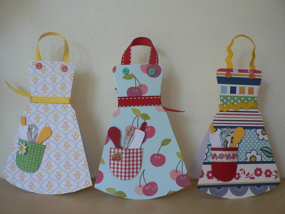 U Make APRON Card Last Year I Made 100 Of These With My
