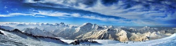 Mount Elbrus Panorama Mount Elbrus Russian Эльбрус