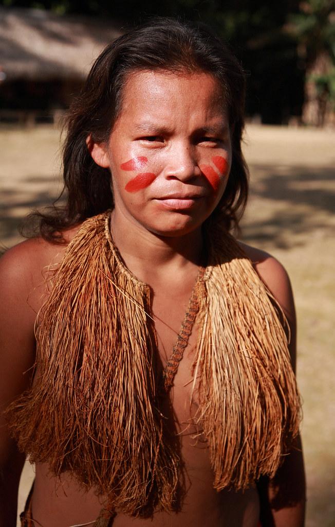 Yagua WomanYagua Village Near Amazon Rivernorth Part Of
