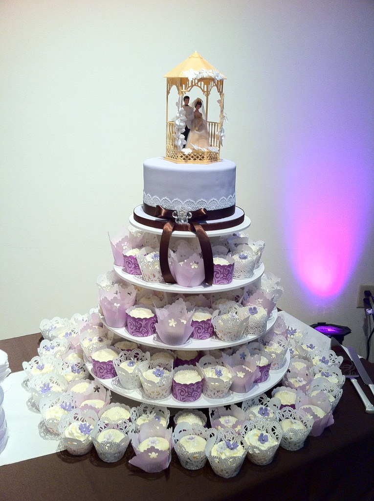 Lilac And Lace Cupcake Tower Cupcake Tower Top Cake Is