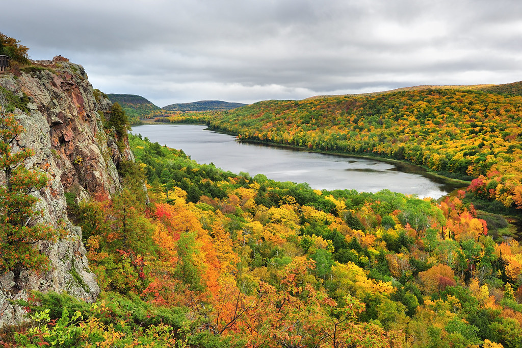 """""""lake Of The Clouds"""" Porcupine Mountain Wilderness State P"""