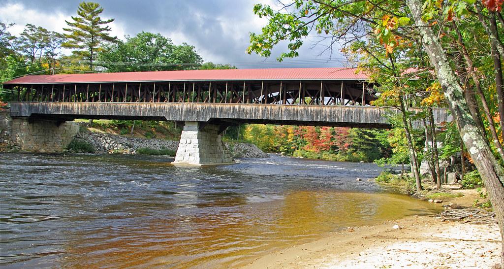 Saco River Covered Bridge Conway NH The Saco River