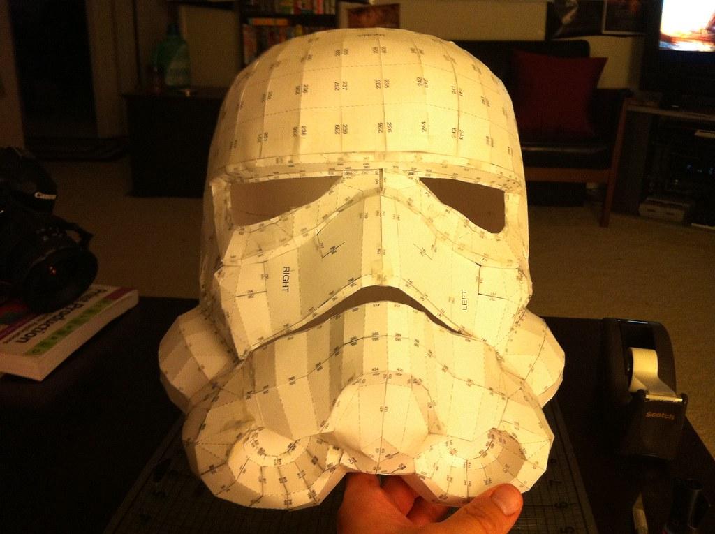 Stormtrooper Helmet Pepakura Front Mike Branski Flickr