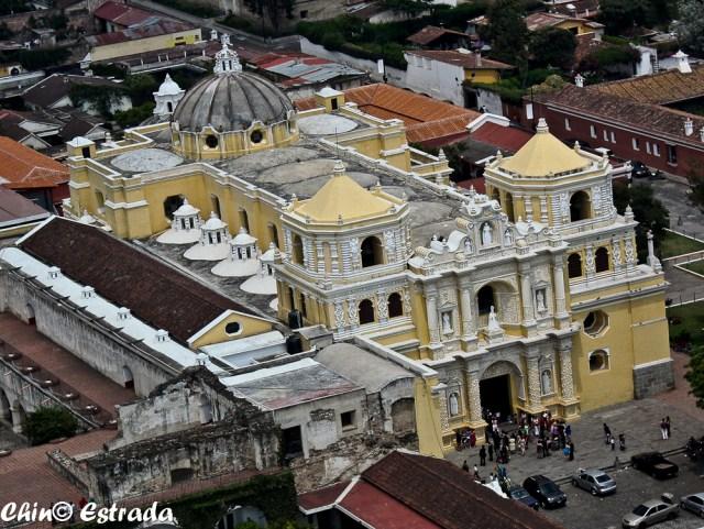 Resultado de imagen para Iglesia de La Merced en La Antigua Guatemala vista aerea