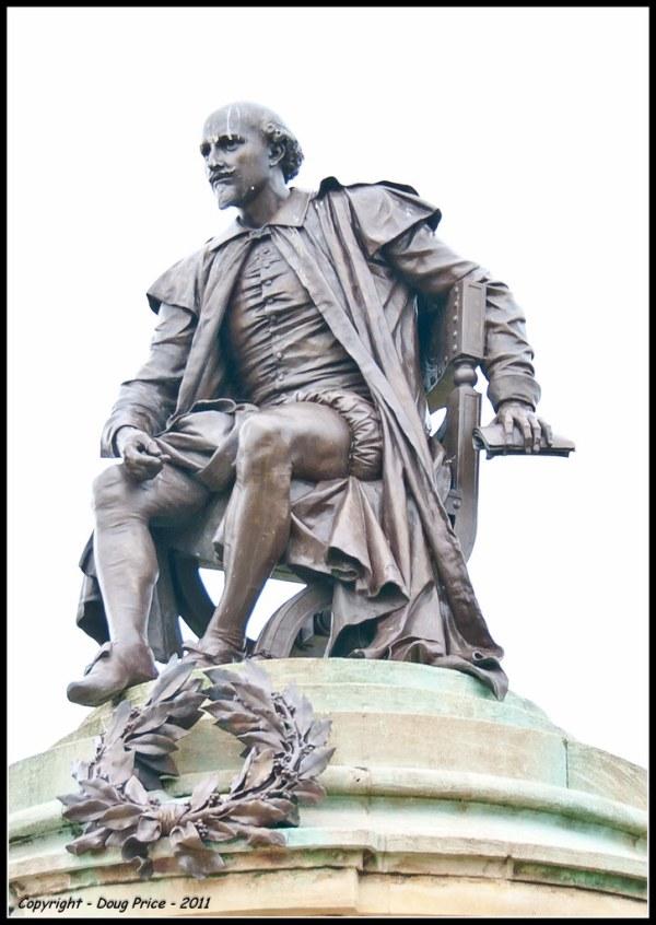 William Shakespeare statue StratforduponAvon Flickr