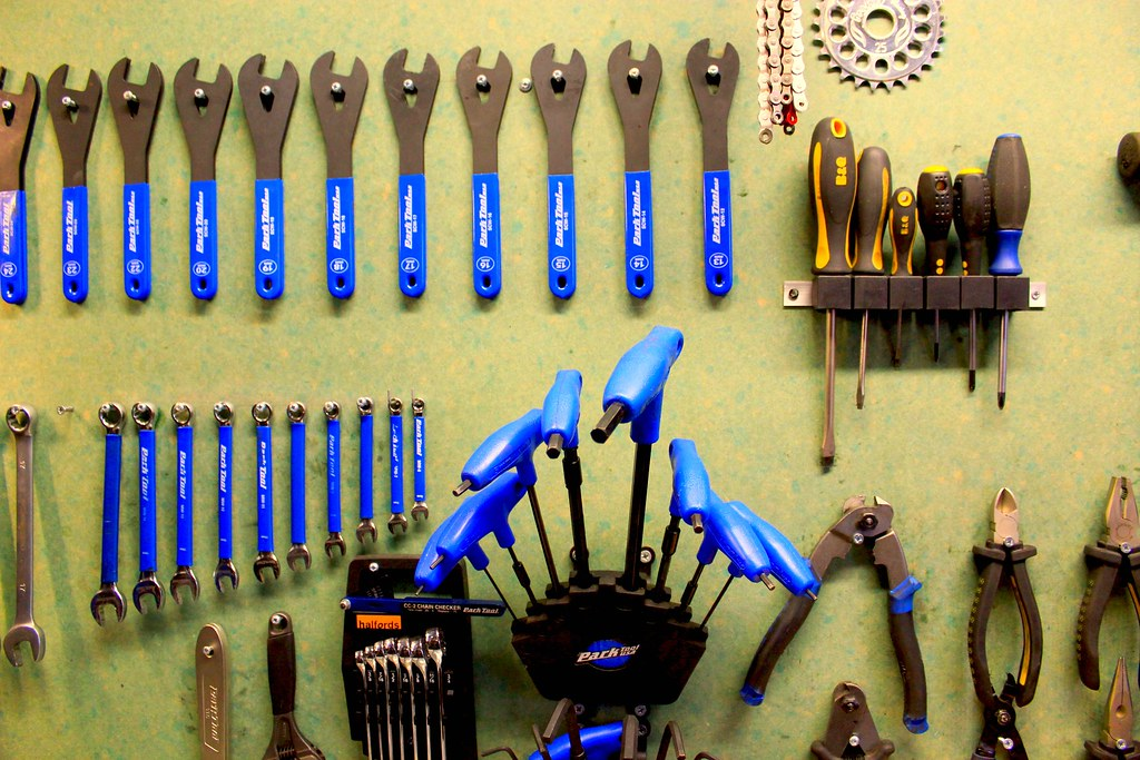Bicycle Workshop Tools All The Many Tools In A Bicycle