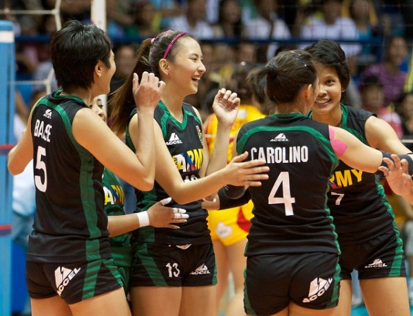 Philippine Army takes game one of Shakeys V-League ...