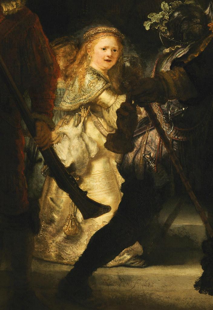 Detail Rembrandt Night Watch 1642 Oil On Canvas Flickr