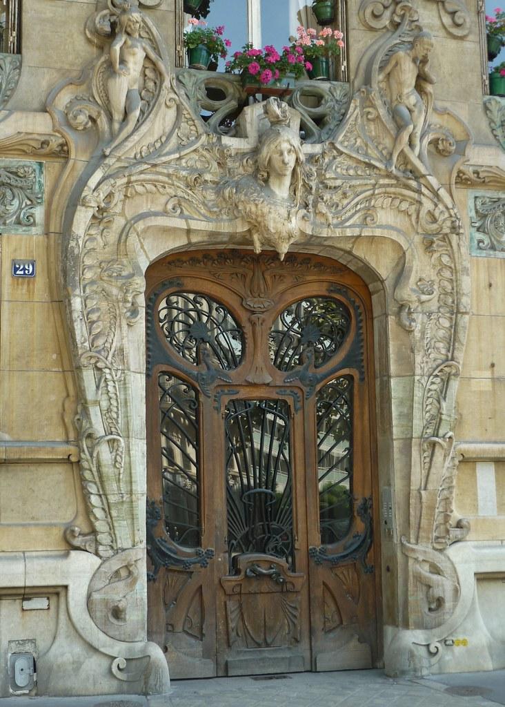 Paris Aug2011 Art Nouveau Door 1 Art Nouveau Masterpiece