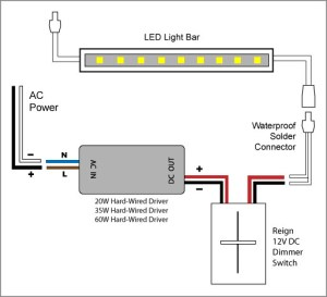 Reign 12V LED Dimmer Switch wiring diagrams | Elemental
