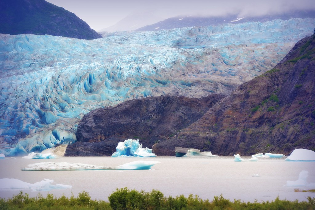 Mendenhall Glacier Alaska Forests Lakes And Rivers