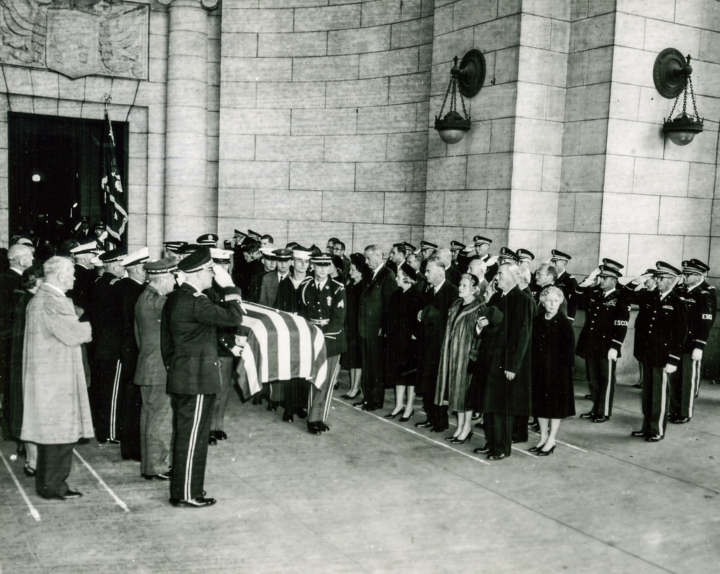 1964 State Funeral For Herbert Hoover 03 The Remains Of