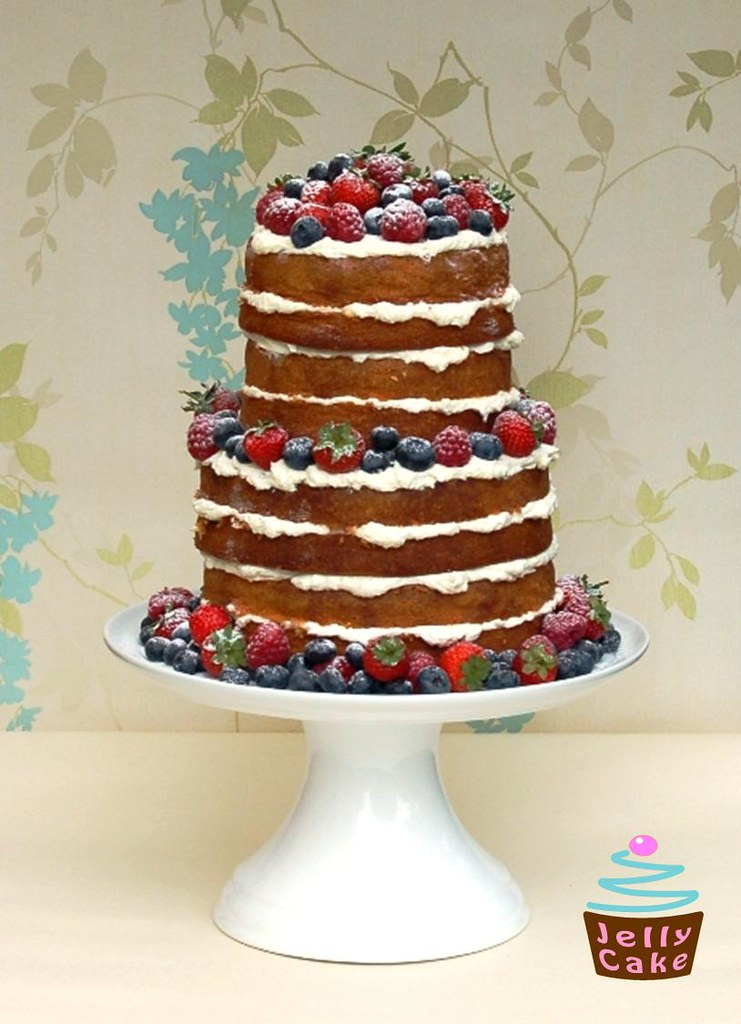 Natural Summer Berries Cake A 2 Tier 4 Layer Naked