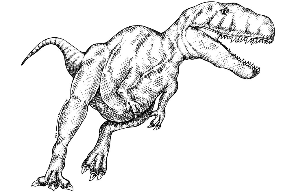 Megalosaurus Drawng Illustrations By Karl Addison To See