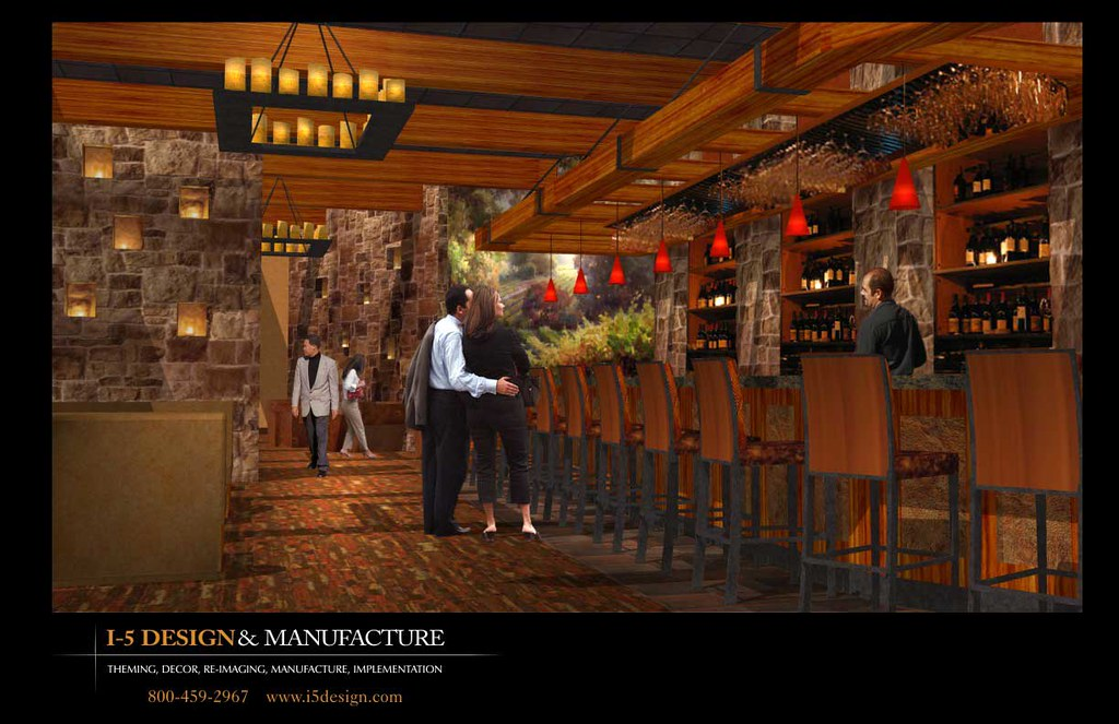 Interior Casino Bar Rendering Casino Conceptual Design