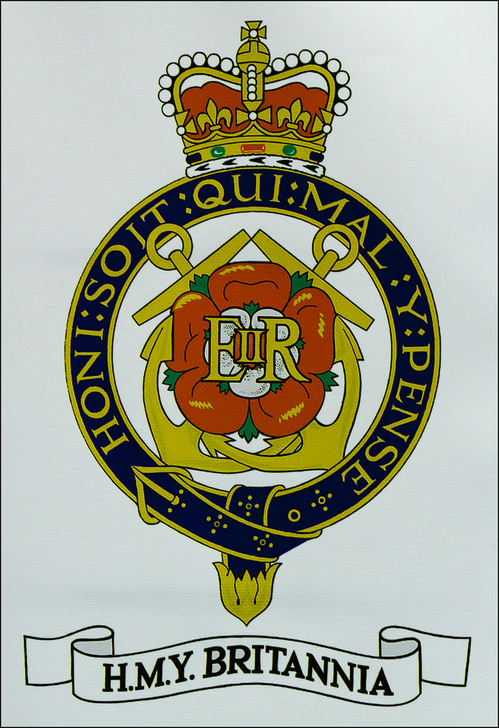 Royal Yacht Britannia Crest On HMY Britannia Theres