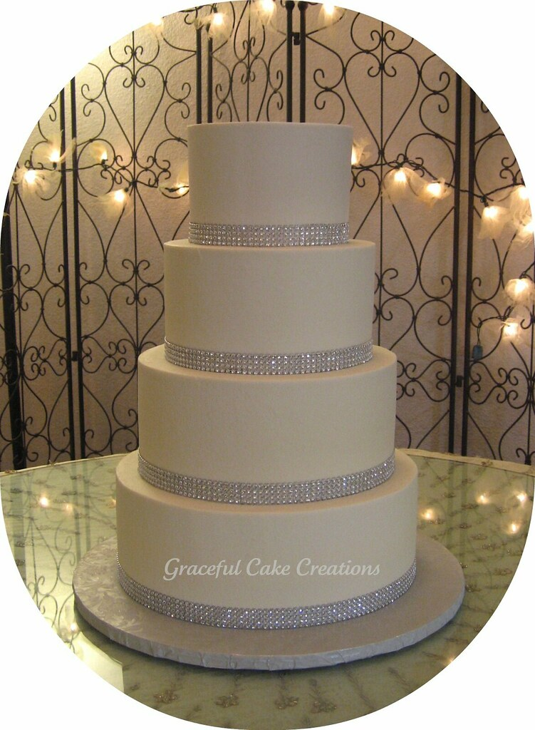 Elegant White and Silver Wedding Cake   Grace Tari   Flickr     Elegant White and Silver Wedding Cake   by Graceful Cake Creations