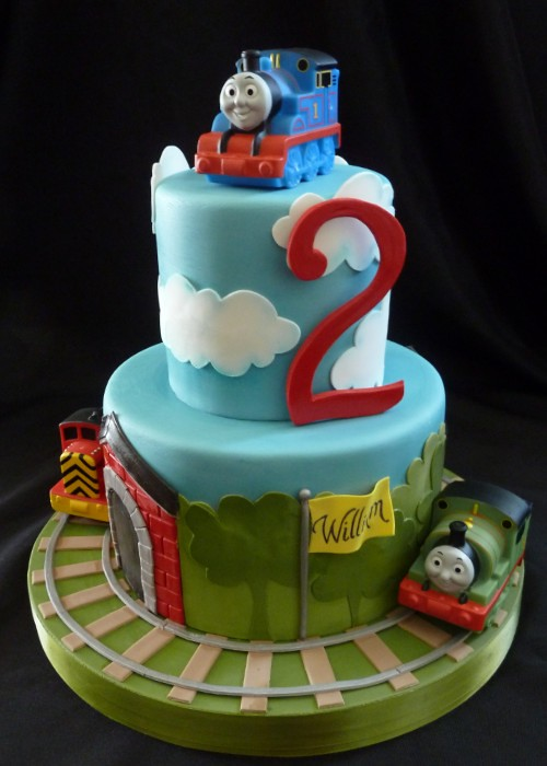 Thomas The Train Cake This One Is Quot Banana Split Quot Flavor