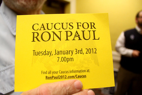 Caucus for Ron Paul | Caucus for Ron Paul handout at a ...