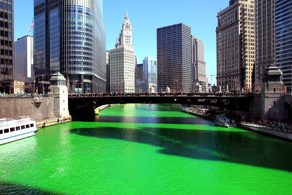 Image result for Chicago Dyes the River Green