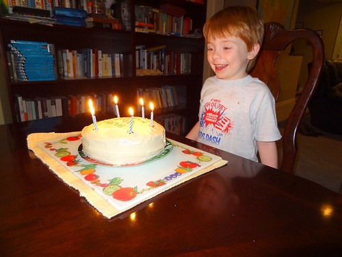 Henry with Birthday Cake | Henry's 6th Birthday, April 5 ...