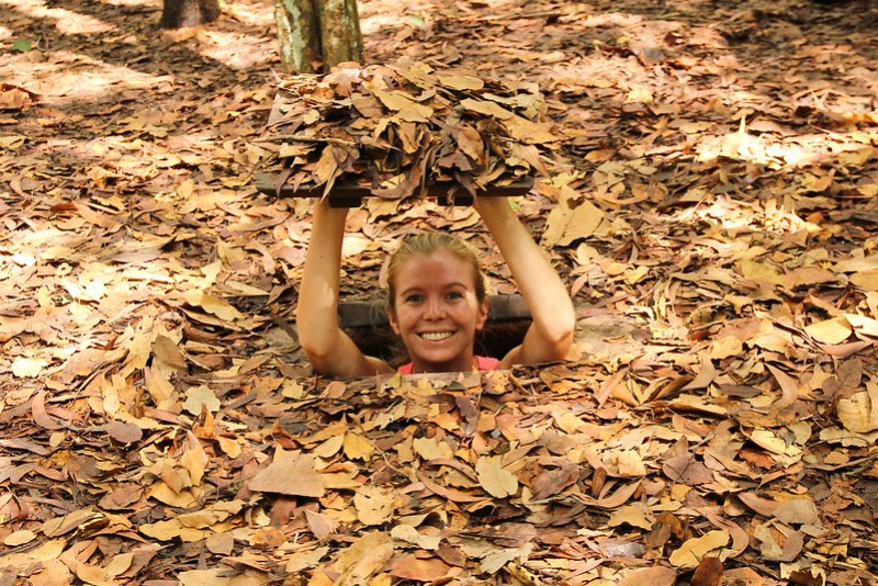 The Cu Chi tunnels, near Ho Chi Minh City, are fascinating remnants of the American War. The best way to visit them is by speed boat with Les Rives!