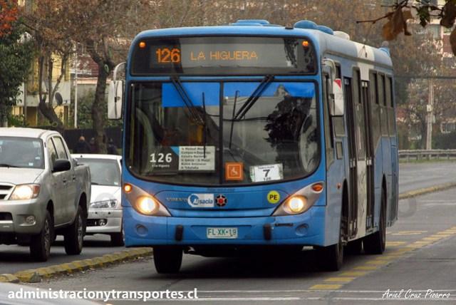 Transantiago - 126   Alsacia   Marcopolo Gran Viale - Volvo (Biportal) / FLXK19