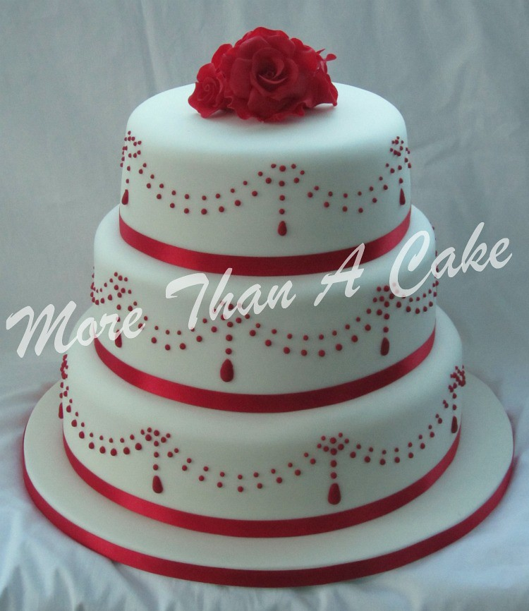 Red Velvet Wedding Cake   3 tier red velvet wedding cake wit      Flickr Red Velvet Wedding Cake   by More Than A Cake